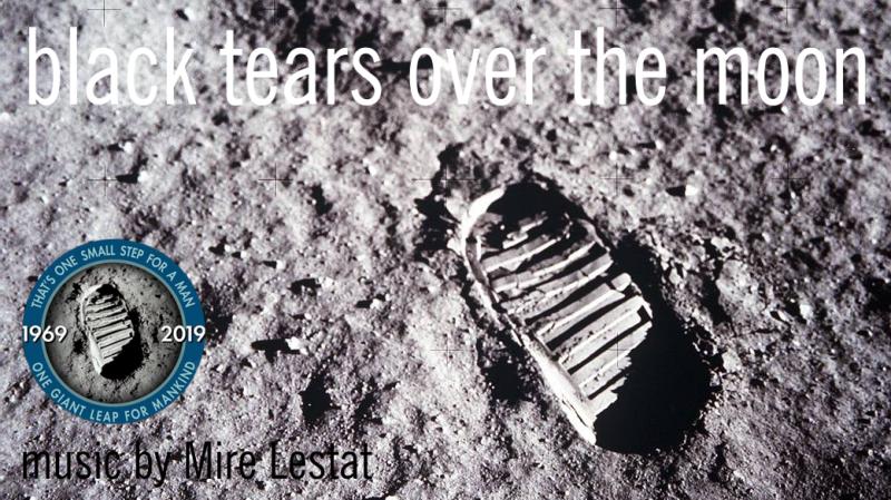 Black tears over the moon